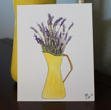 mml yellow pitcher watercolor