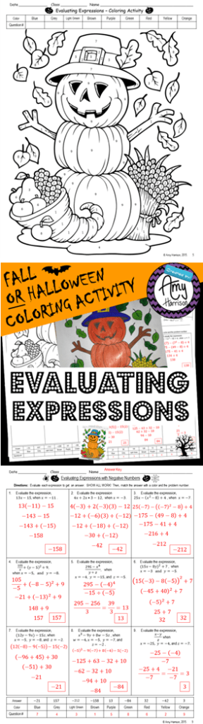 EvaluatingExpressionsFallHalloweenPin