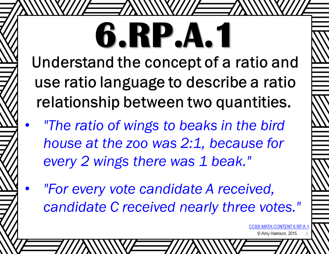 FREE 6th Grade Ratios and Proportional Relationships Common Core ...