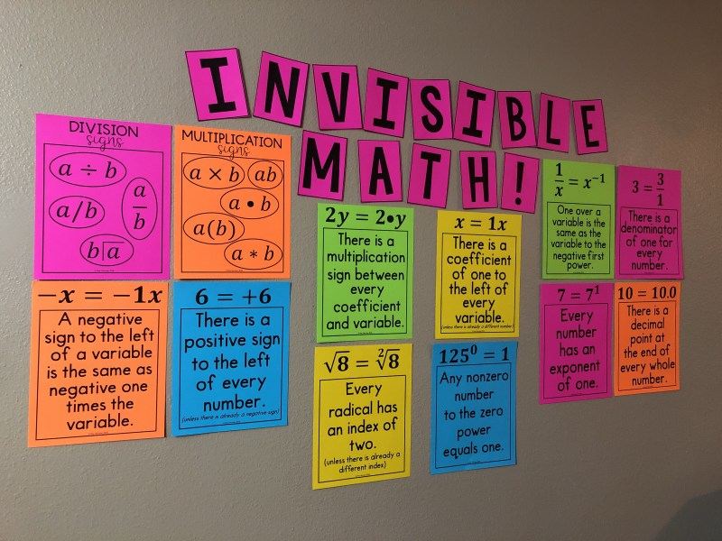 Invisible Math Posters