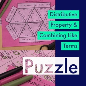 Distributive Property & Combining Like Terms Puzzle