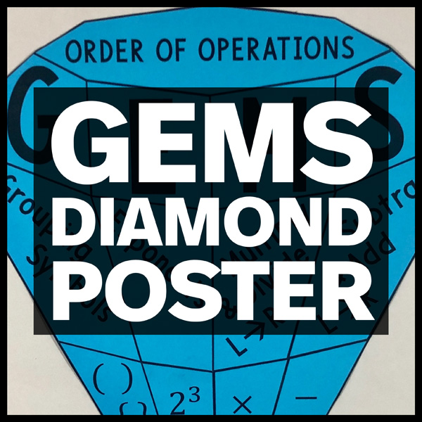 gems diamond poster