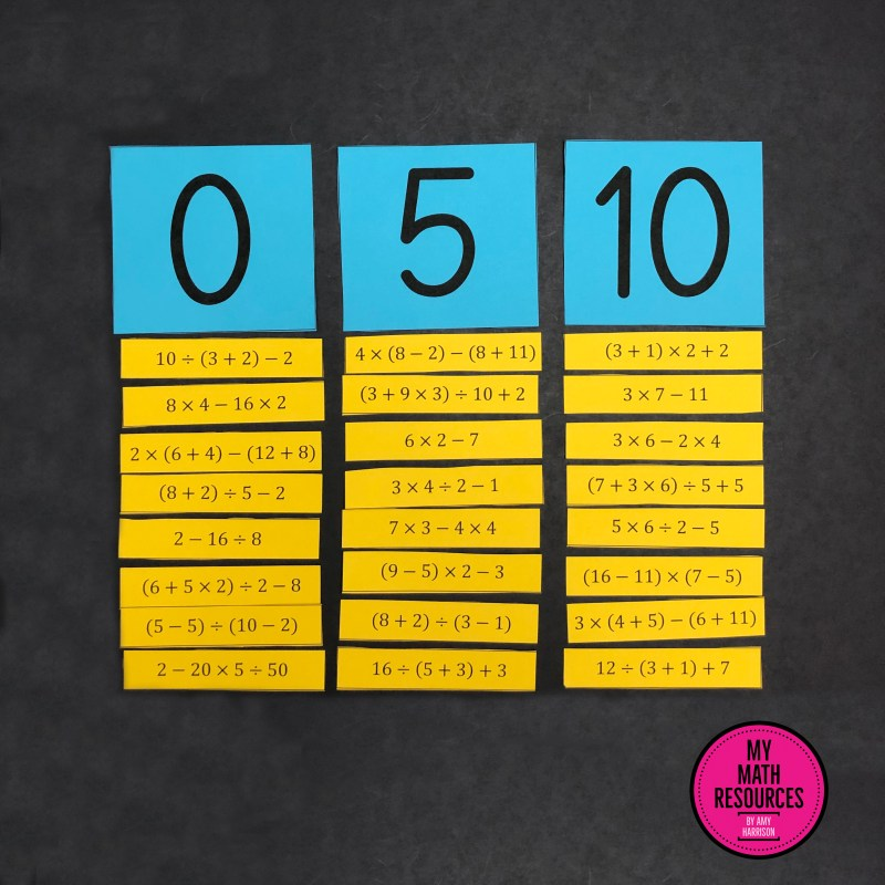 This is an Order of Operations Sort Activity - a fun way to practice core standard 5.OA.A.1!  A great change of pace for any 5th or 6th grade Math Class - your students will have fun while they practice Order of Operations.  #mathteacher #math #maths #teacher #algebra #geometry #mathproblems #study #iteachsixth #iteachfifth #6thgrade #5thgrade #middleschoolmath #upperelementary #teacherspayteachers #teachersfollowteachers #teacherinspiration