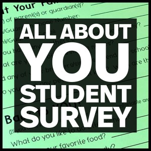 all about you student survey