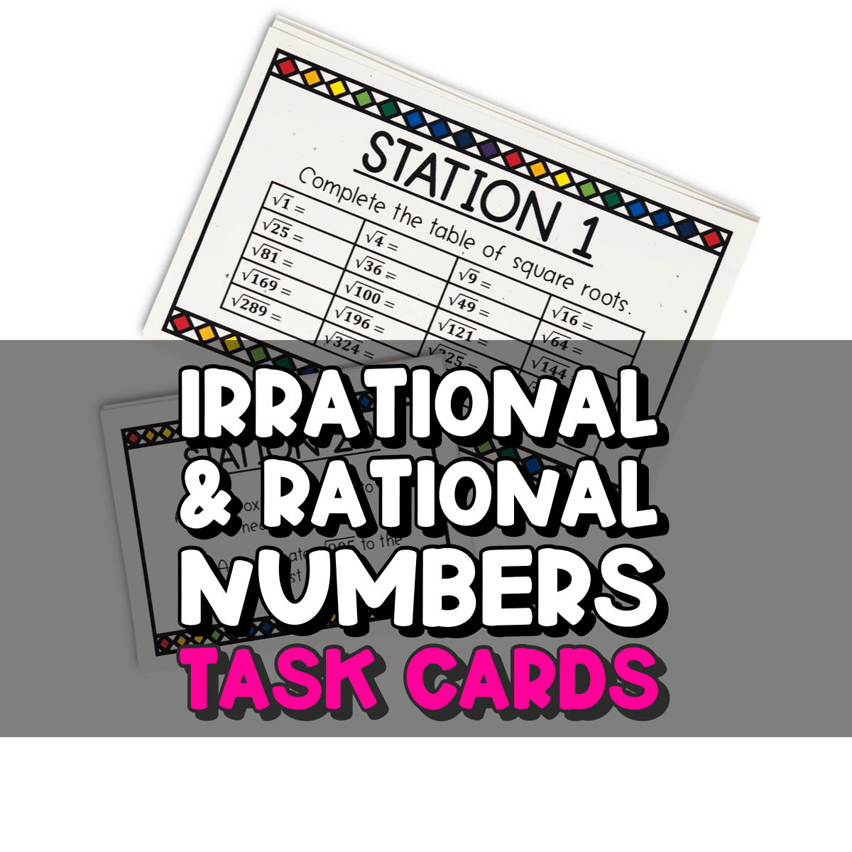 Irrational and Rational Numbers Task Cards