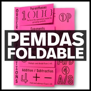 pemdas foldable