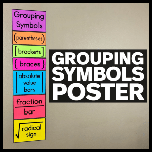 Grouping Symbols Poster