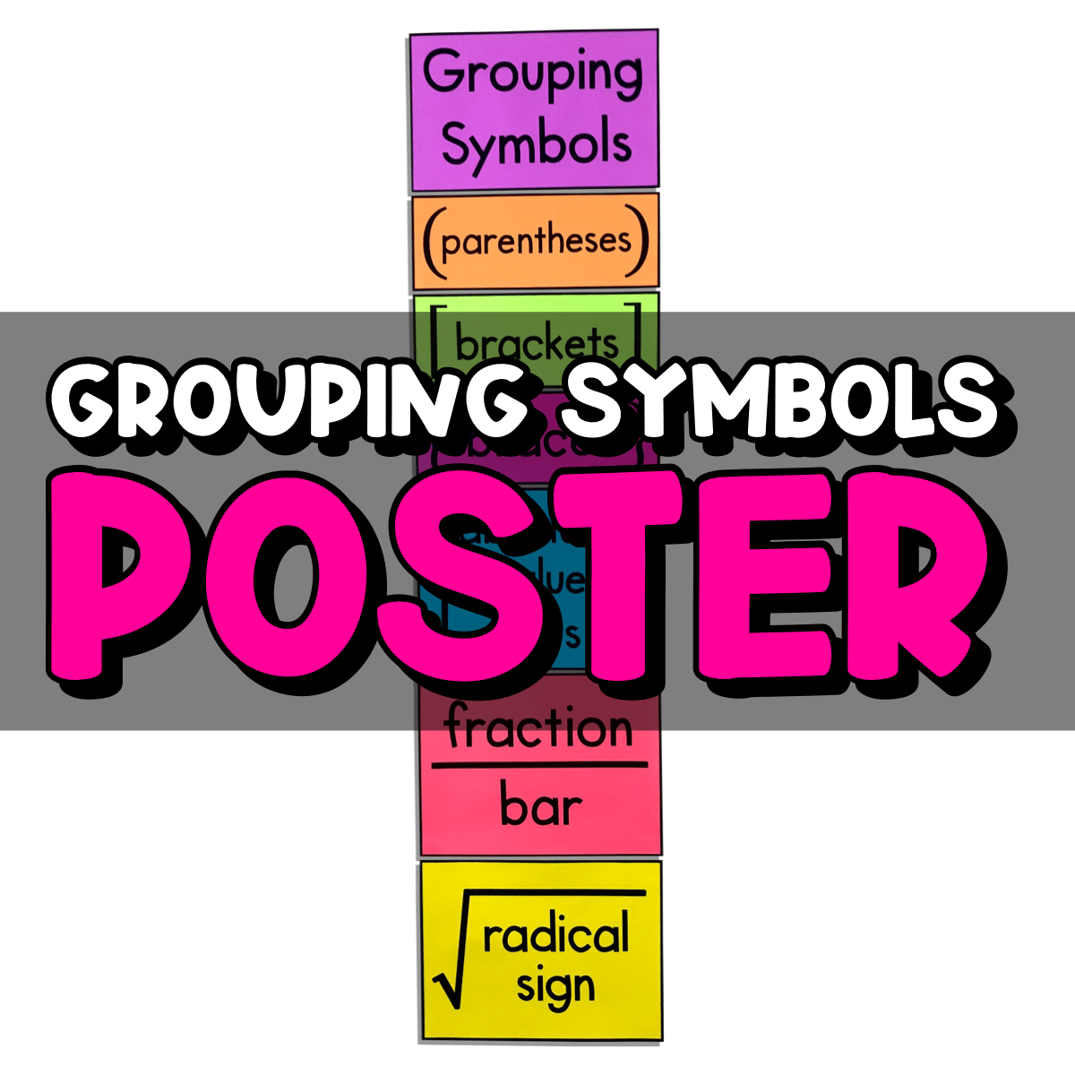 My Math Resources - Middle School Math Teacher Resources - Posters [ 1200 x 1200 Pixel ]