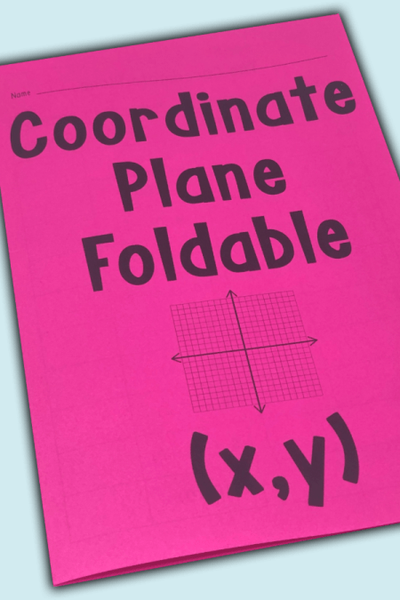 Your 5th, 6th, 7th, or 8th grade math class will benefit from this coordinate plane foldable.  It fits nicely in your interactive math notebook and is a great change of pace from traditional review or note taking.