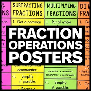 fraction operations poster