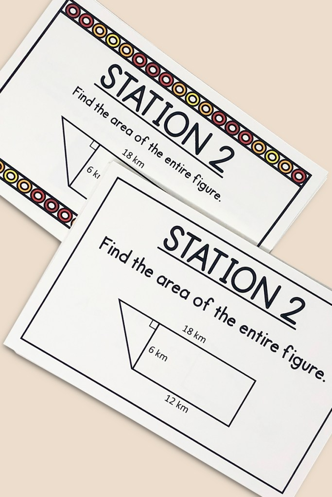Reviewing area of a polygon has never been more easy with these task cards!  Aligned with core standard CCSS 6.G.1, they include multiple printing options and an answer key. Give yourself an easy day, and give your class an entertaining way to practice!  Your middle school geometry class will love them!