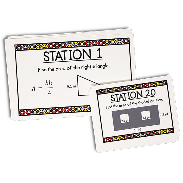 Task cards are a fun and engaging way for your middle school math students to practice or review!  Get your class out of their desks and moving around the room and they will LOVE you for it!