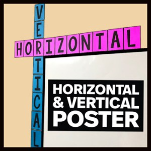 Horizontal Vertical Posters