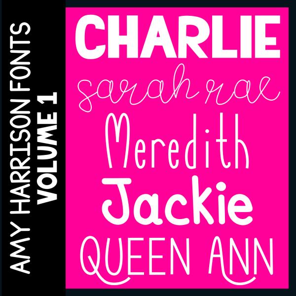 Amy Harrison Fonts Volume 1