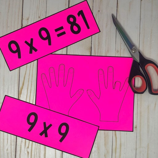 This multiply by 9 hand trick poster will help your elementary math students learn to multiply by nine using their hands!  This bulletin board idea will look GREAT on your wall and will help your students!