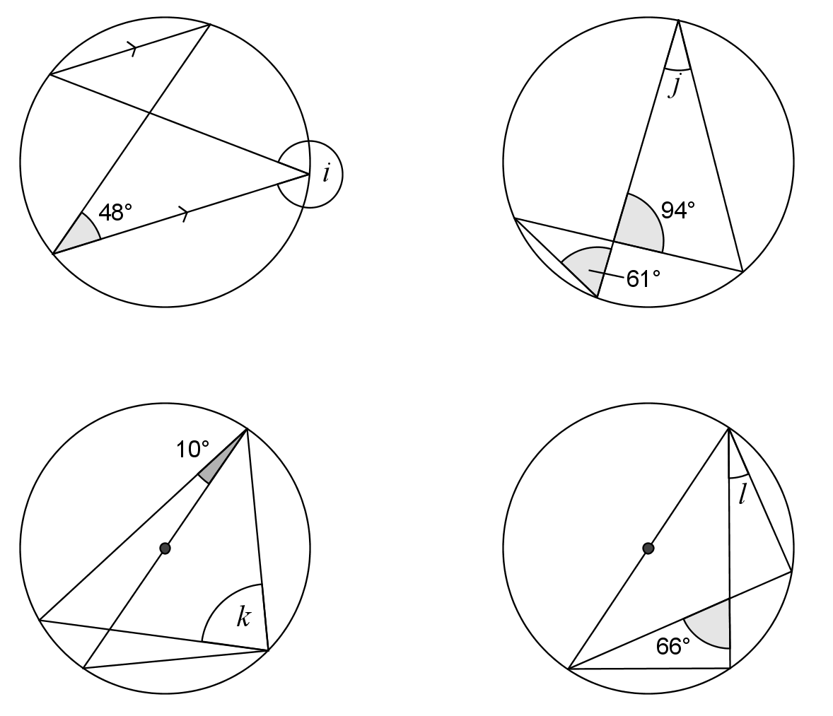 Worksheet On Cyclic Quadrilaterals