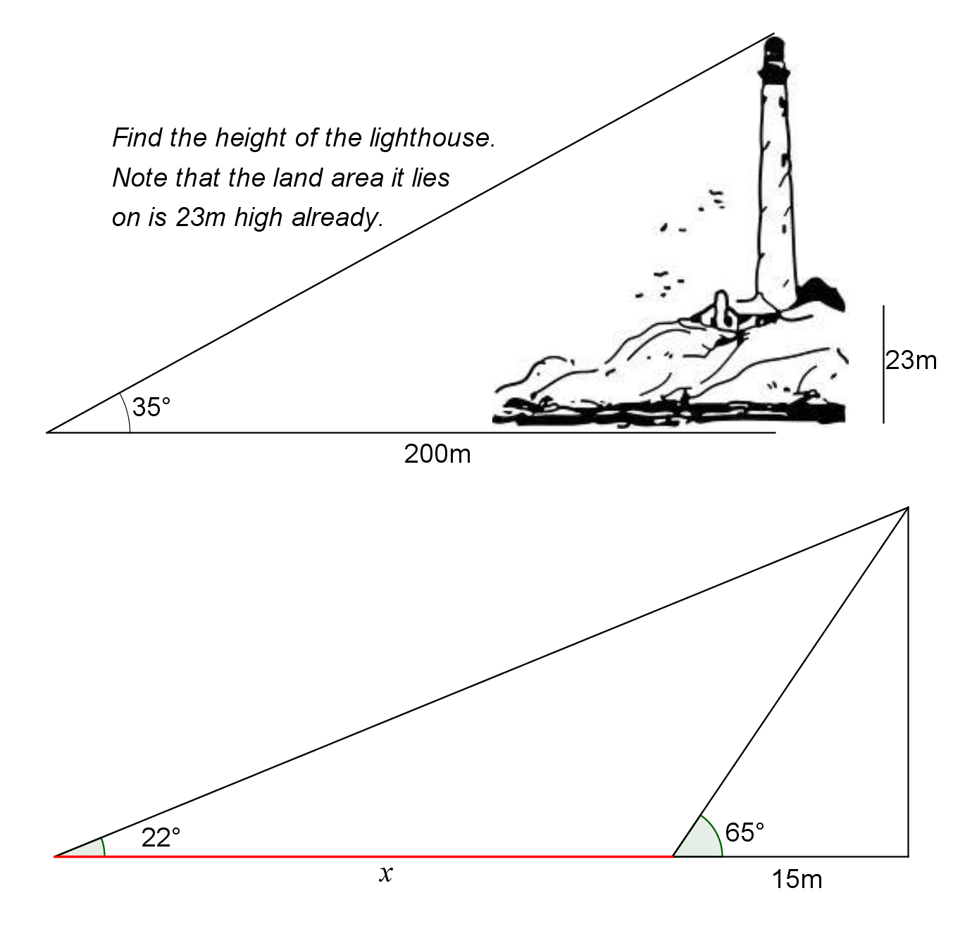 Printables. Right Triangle Trig Word Problems Worksheet