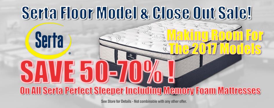 Serta Floor Model Sale  Mattress Barn