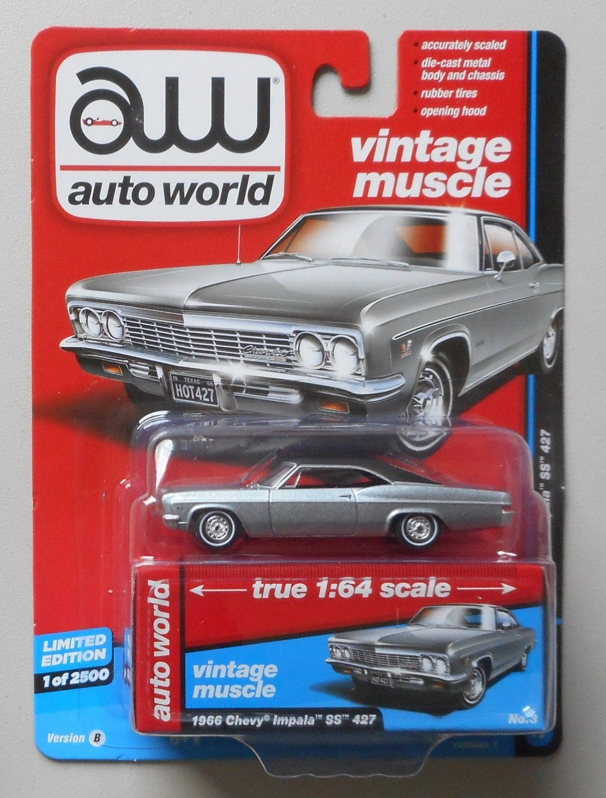 1964 Chevy Impala Ss 427 Chateau Slat Auto World Die Cast 164 Car W 1966