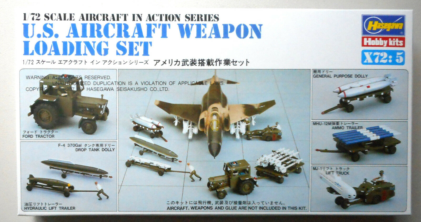 US Aircraft Weapons Detail Set Plastic 1:72 Scale Hasegawa Model Kit Diorama