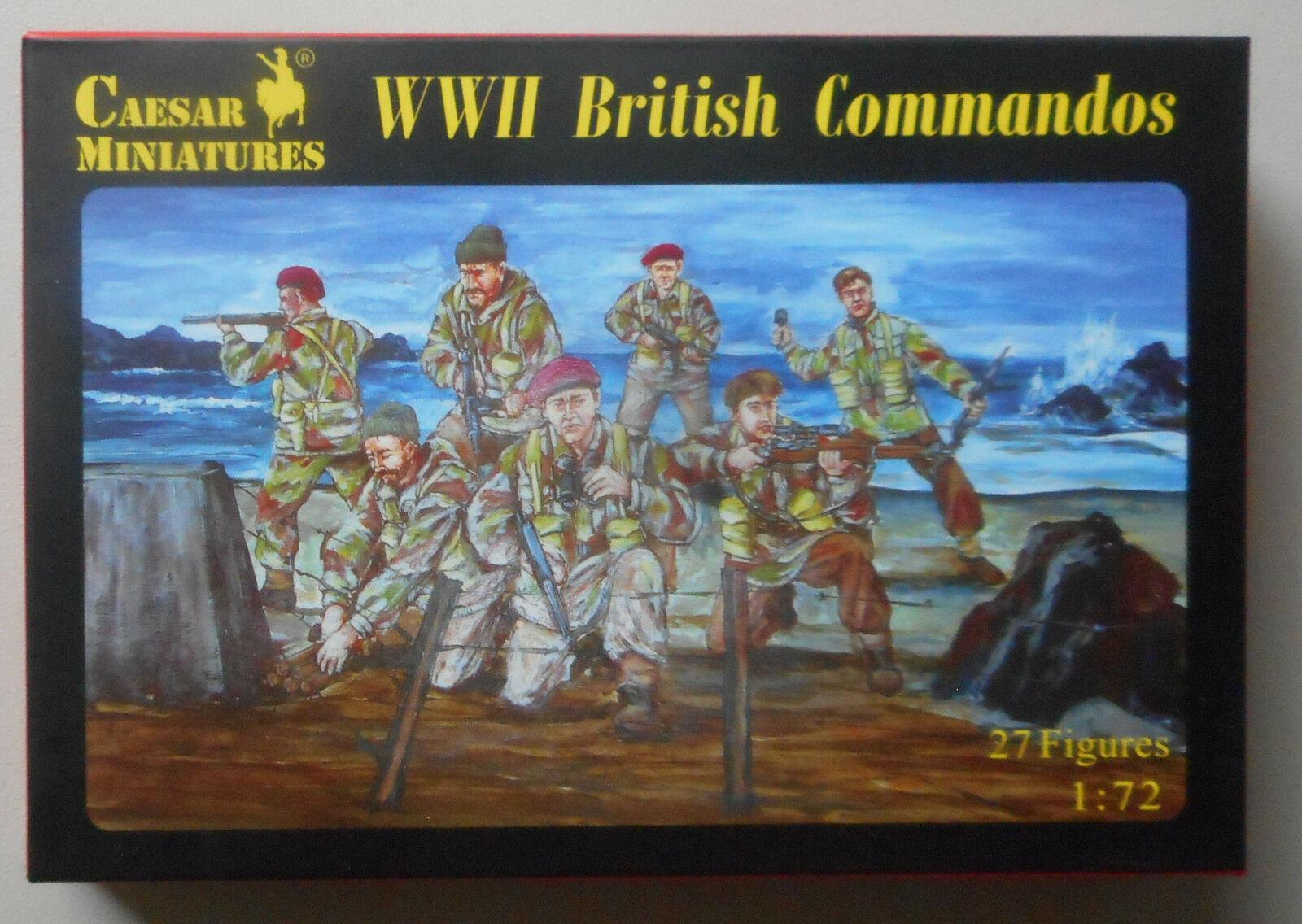 1/72 WWII BRITISH COMMANDOS CAESAR MINATURES 27 FIGURES HISTORY 73