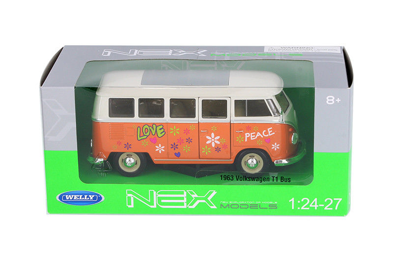 124 27 orange love peace decals 1963 vw volkswagen t1 bus welly 124 27 orange love peace decals 1963 vw volkswagen t1 altavistaventures Image collections