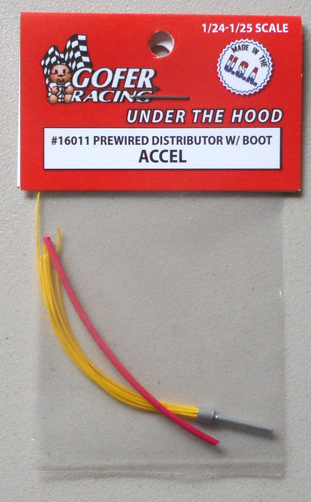 BROWN PREWIRED DISTRIBUTOR BOOT 1:24 1:25 GOFER RACING CAR MODEL ACCESSORY 16010