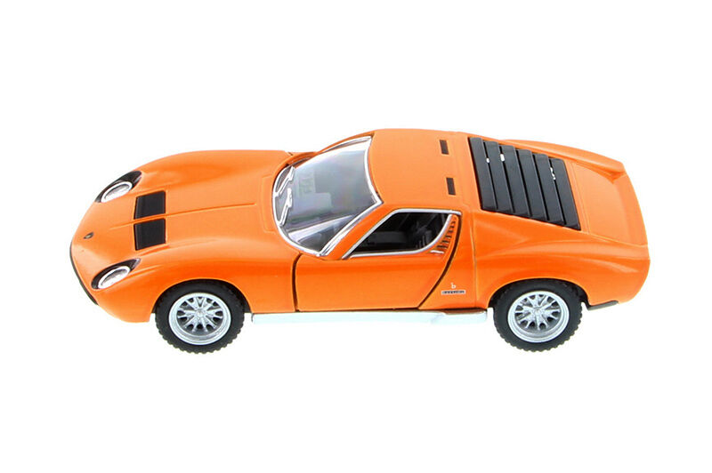 1 34 Orange Lamborghini Miura P400 Kinsmart Diecast Car 5 Smaller