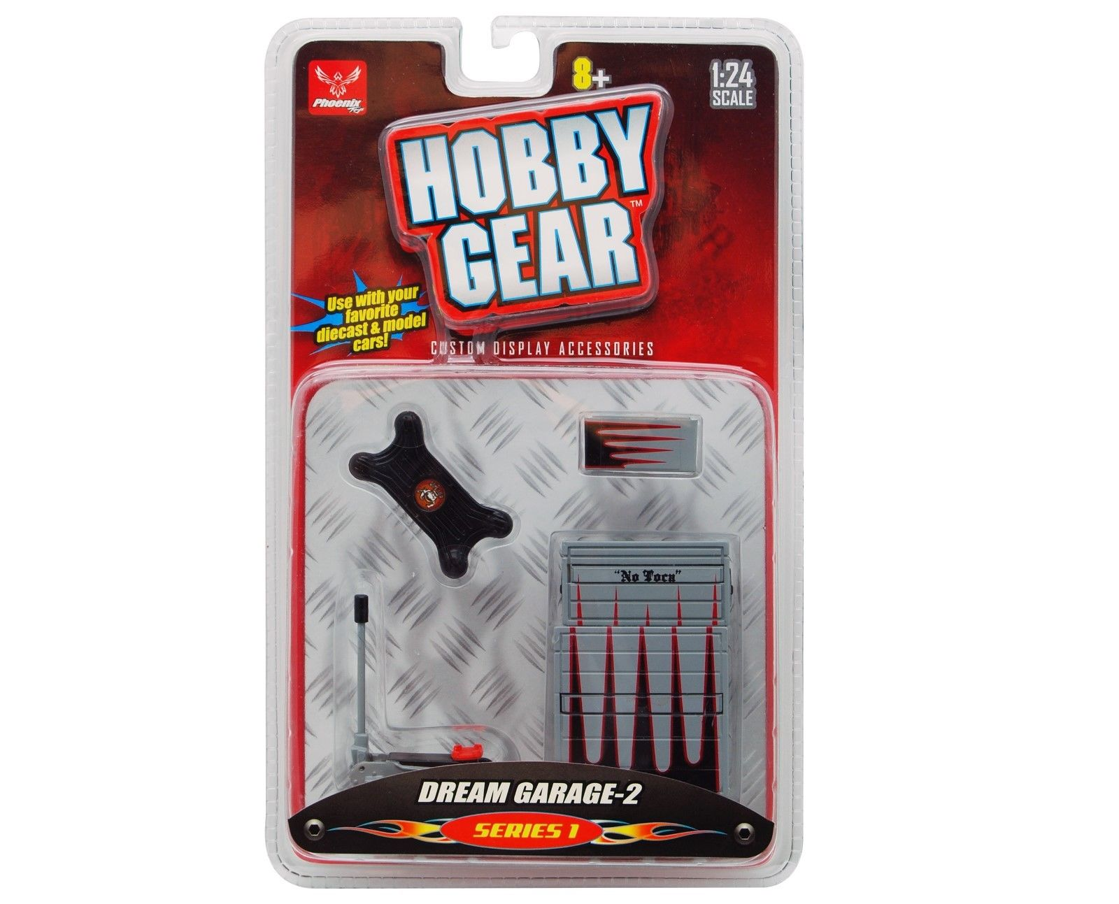 DREAM GARAGE 2 1:24 SCALE HOBBY GEAR GARAGE DIORAMA TOOL BOX JACK CREEPER