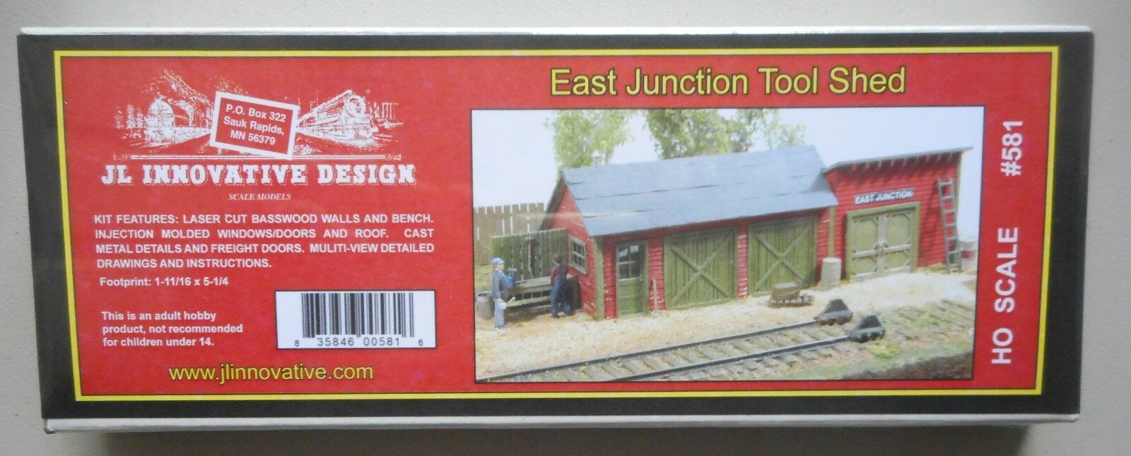 EAST JUNCTION TOOL SHED KIT HO 1:87 SCALE DIORAMA TRAIN LAYOUT JL  INNOVATIVE 581