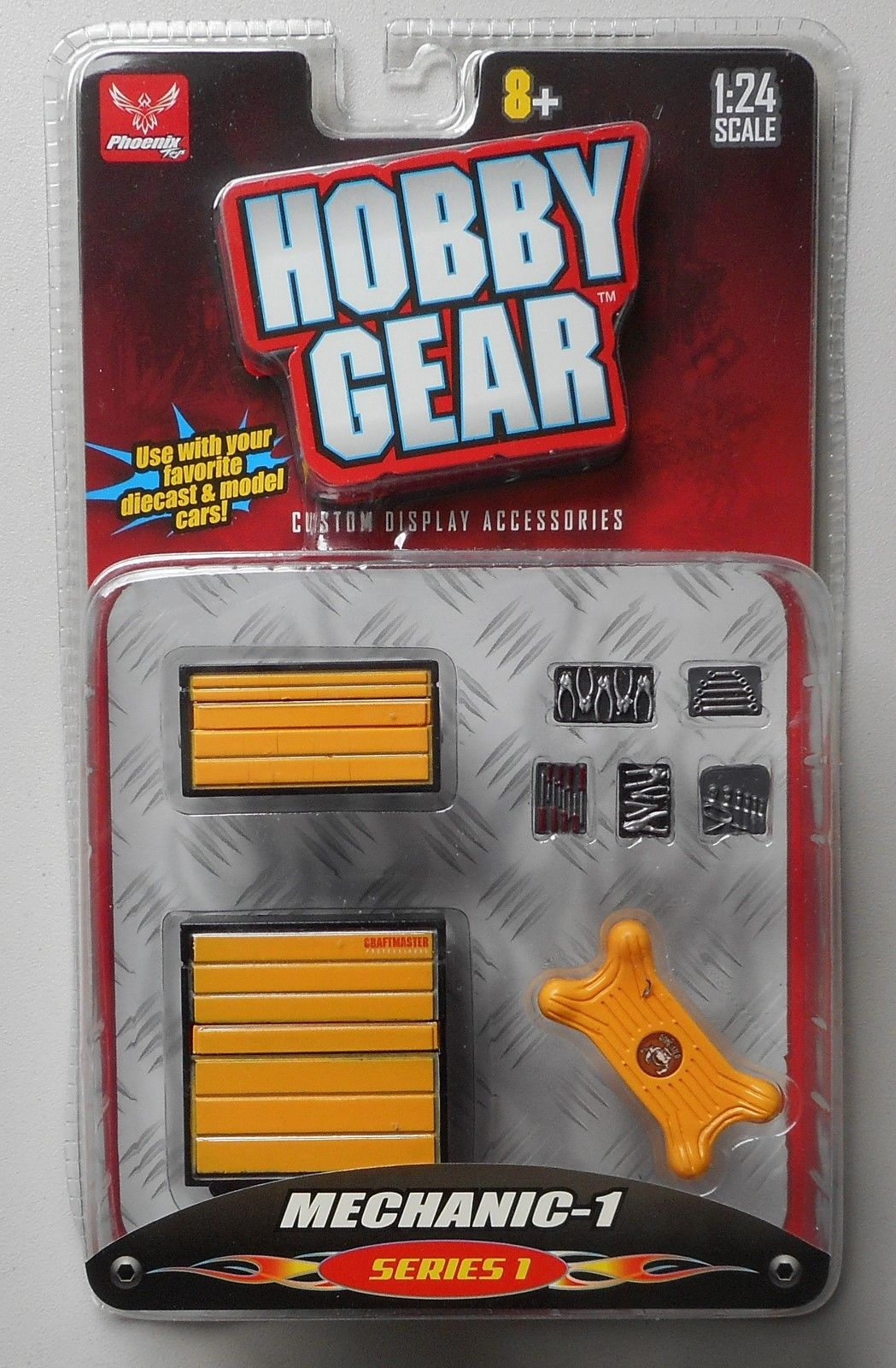 MECHANIC 1 1:24 Scale HOBBY GEAR GARAGE Diorama ACCESSORY TOOLS CREEPER  TOOL BOX