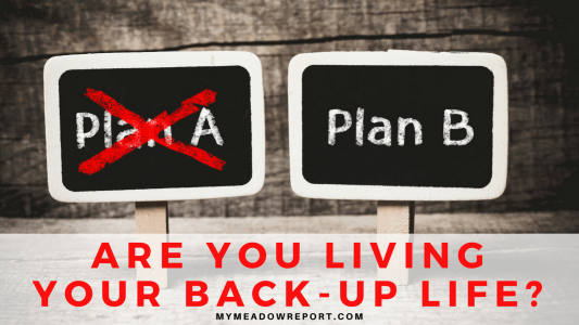 Are You Living Your Back-Up Life?