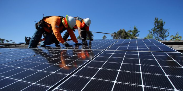 Renewable energy like solar is at the core of new disruptive technology in the power sector (AFP)