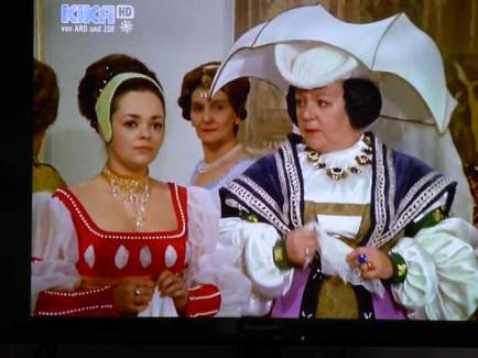 The stepmother is angry at her daughter because she wasn't fast enough to grab the prince for the first dance