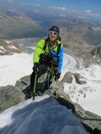 Benedikt in the mountains