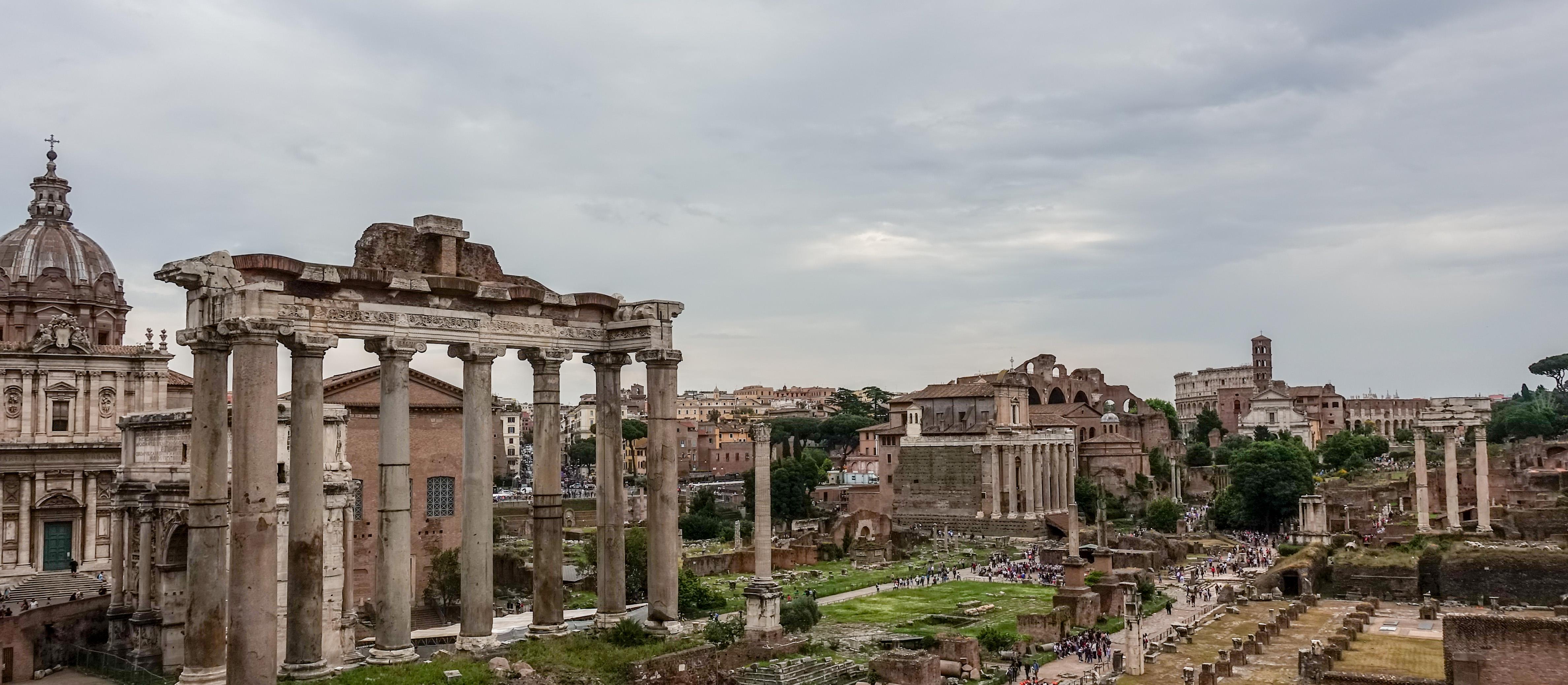 The Roman Forum, an ancient marketplace