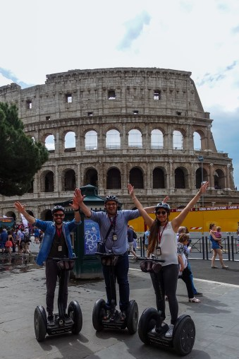 In front of the Colosseum