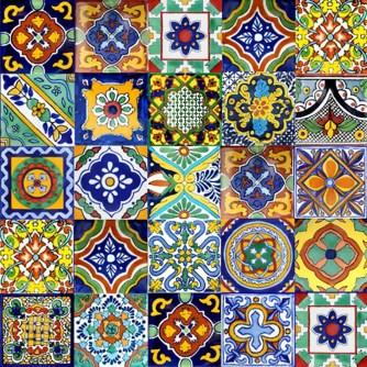 talavera tile murals mexican tiles