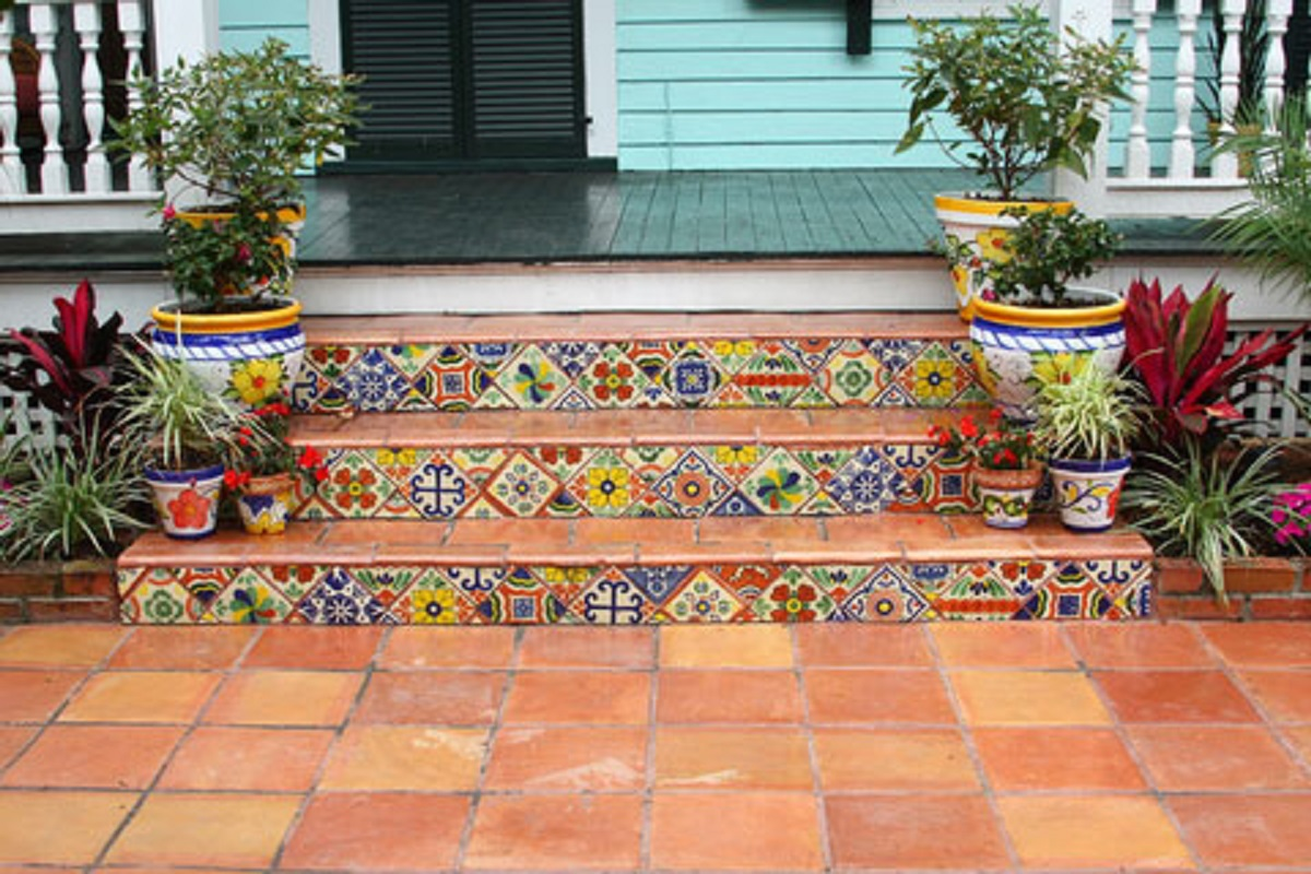 Front Step Tiles  Mexican Tiles