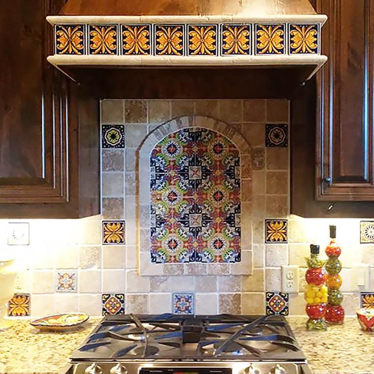 spanish tile backsplash mexican tiles