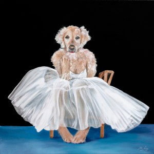 marilyn-monroe-golden-retriever-mia-laing-artist