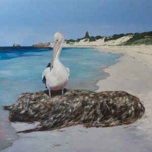 pelican painting, mia laing, oilpainting 2017