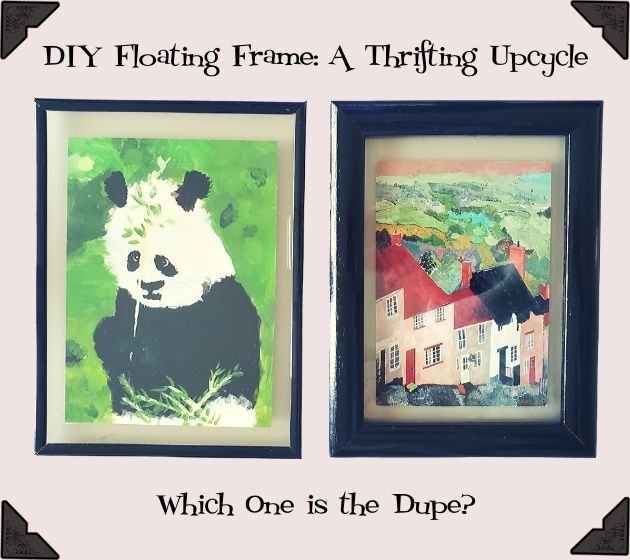 Thrifting and Upcycling Picture Frames