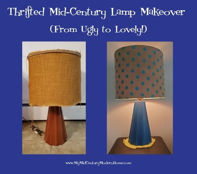 Thrifted Mid-Century Lamp Makeover