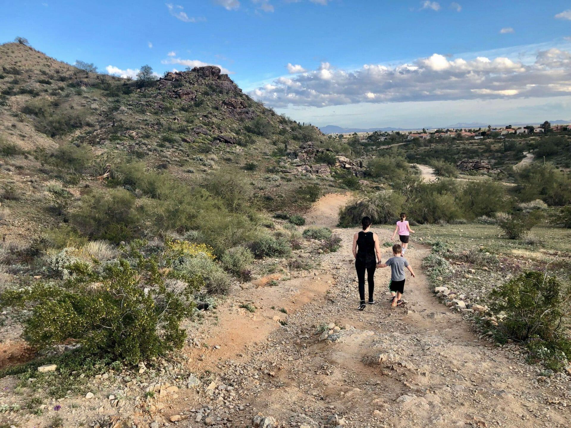 Arizona hike with family