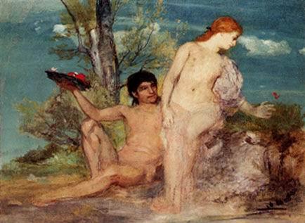 תוצאת תמונה עבור אודיסאוס והנימפה