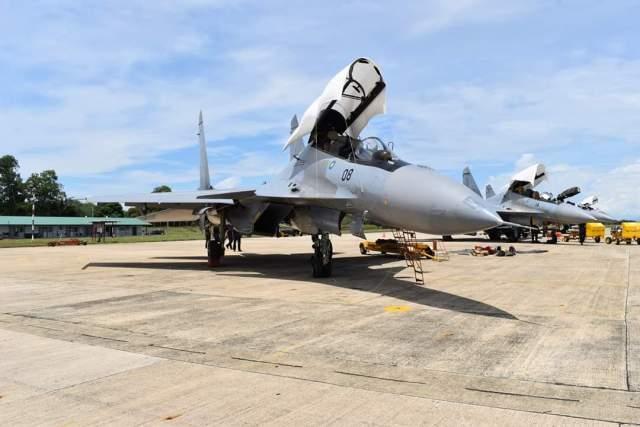 RMAF's Sukhoi Su-30MKM at Labuan
