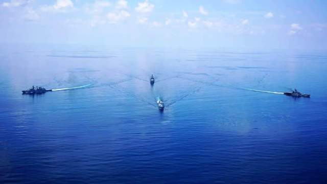 RMN conducting PASSEX with Indian Navy.
