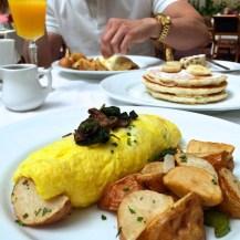 Jasmine Green Tea waffles with Tempura Battered Chicken - Palace Hotel