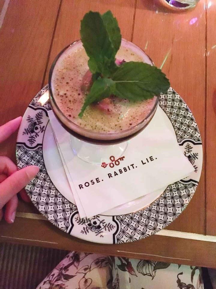 Cocktails at Rose. Rabbit. Lie. Los Vegas